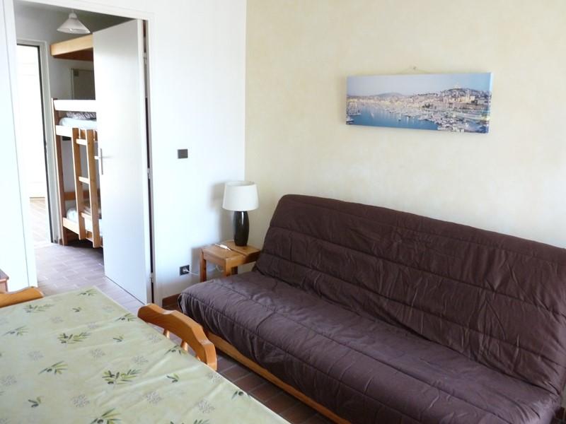 Jardin Azur T2 cabine petite vue mer SIX FOURS LES PLAGES