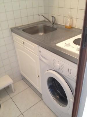 coin cuisine avec lave linge